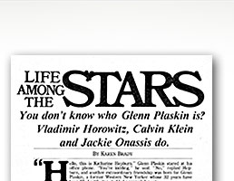 buffalo magazine on Glenn Plaskin